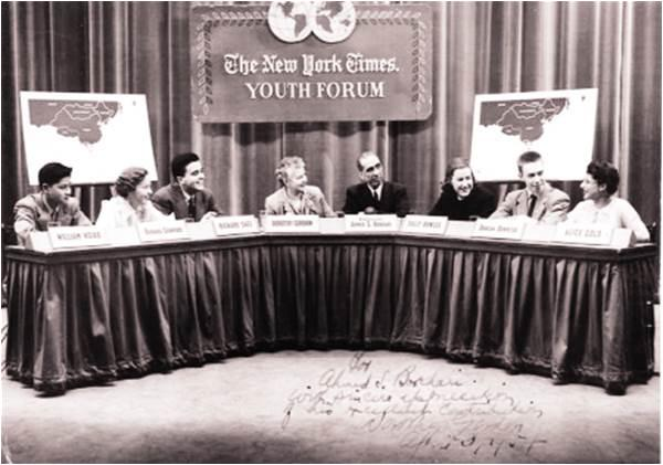 Patras presides at the New York Times youth forum
